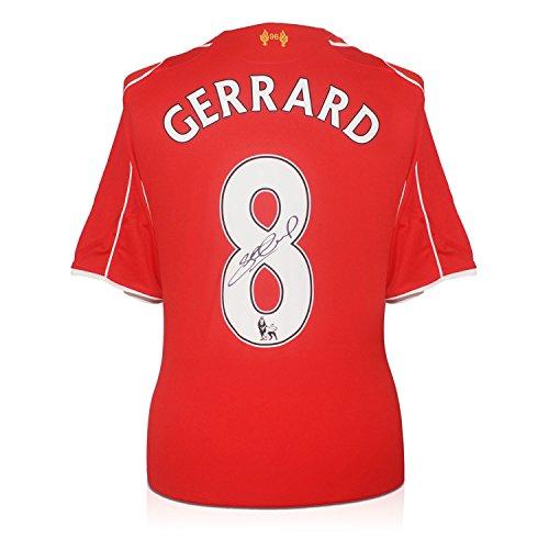 Gerrard Liverpool Autographed Football Memorabilia