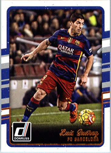 Donruss Suarez Barcelona Soccer Card