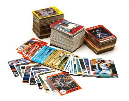 Baseball Card Collector Over Cards