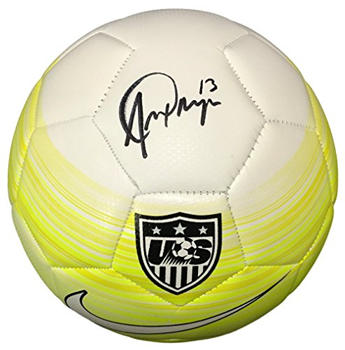 Morgan Signed Authentic Yellow Soccer