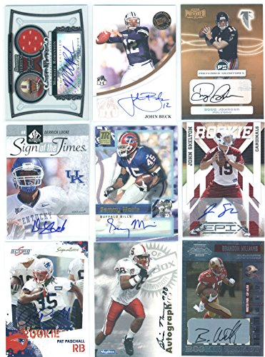 Autographed Football Trading Featuring College