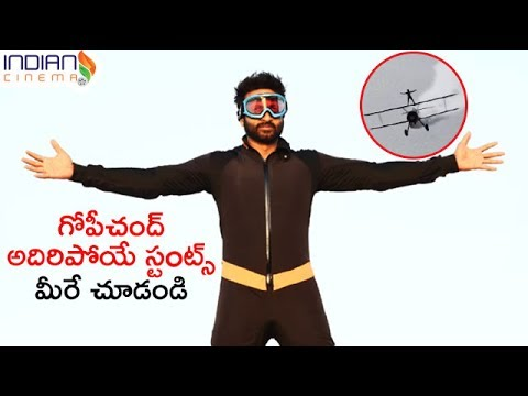 Gopichand Stunts for Goutham Nanda 2017 Telugu Movie | Gopichand Extreme Sports | Indian Cinema