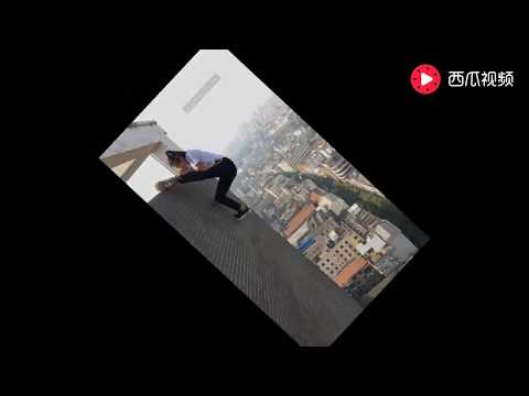 Extreme sports Chinese men climb high buildings #3