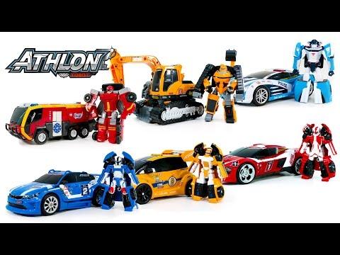 TobotAthlon Extreme Sports Robot Alpha Beta Theta Vulcan Rocky Tornado OneTouch Mini Car&Truck Trans