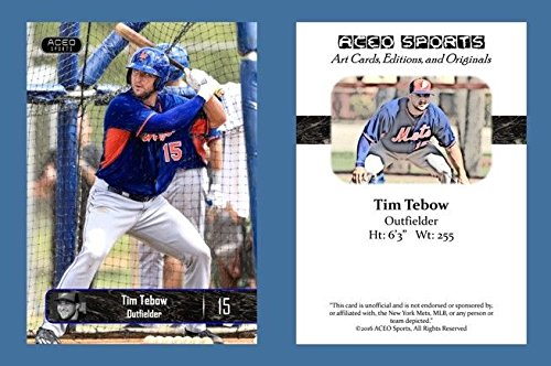 Tebow ACEO Baseball Rookie Magnetic