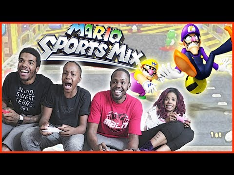 MAV3RIQ FAM CLASHES IN EXTREME POWER UP DODGEBALL! – Mario Sports Mix Dodgeball Wii U Gameplay