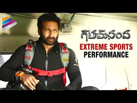 Gopichand Performing Extreme Sports   Goutham Nanda Telugu Movie   Hansika   Catherine Tresa