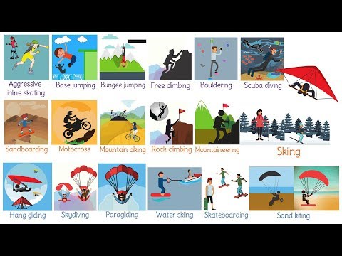 Extreme Sports Vocabulary in English | List of Extreme Sports