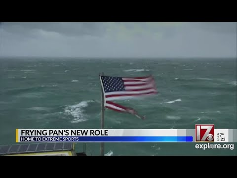 Frying Pan Tower off NC coast gets new role as extreme sports hub
