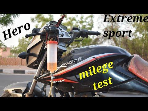 Hero Extreme sport milege test